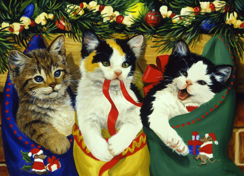 Christmas Kittens - 1000pc Jigsaw Puzzle by Vermont Christmas Company