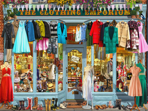 The Clothing Emporium - 550pc Jigsaw Puzzle by Vermont Christmas Company