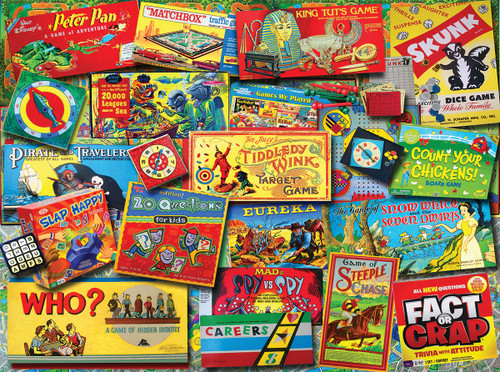 Family Game Night - 550pc Jigsaw Puzzle By White Mountain