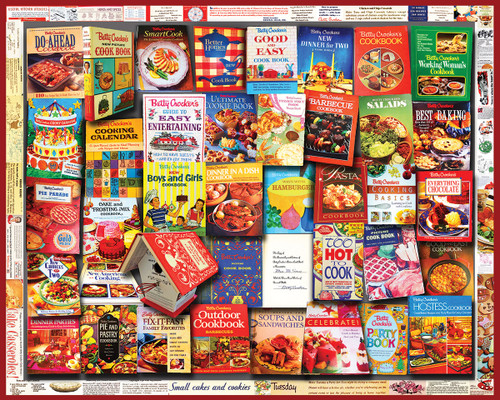Betty Crocker Cookbooks - 1000pc Jigsaw Puzzle by White Mountain