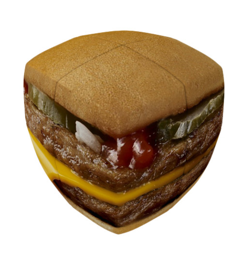 2x2 Pillowed Burger Cube by V-CUBE