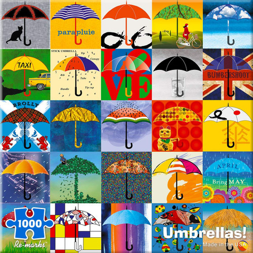 Umbrellas - 1000pc Jigsaw Puzzle By Re-marks