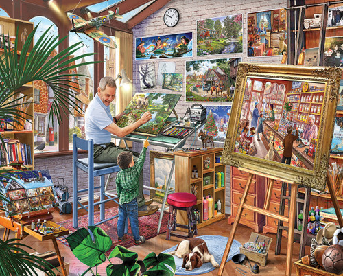 Artist Studio - 1000pc Jigsaw Puzzle by White Mountain