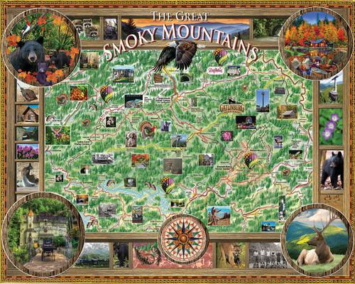 Smoky Mountains - 1000pc Jigsaw Puzzle By White Mountain