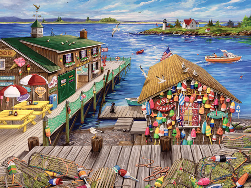 Lobster Pound - 1000pc Jigsaw Puzzle by White Mountain