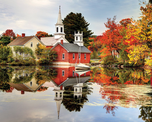 Autumn Reflections - 1000pc Jigsaw Puzzle by White Mountain