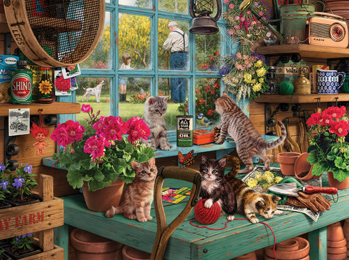 Curious Kittens - 1000pc Jigsaw Puzzle By White Mountain