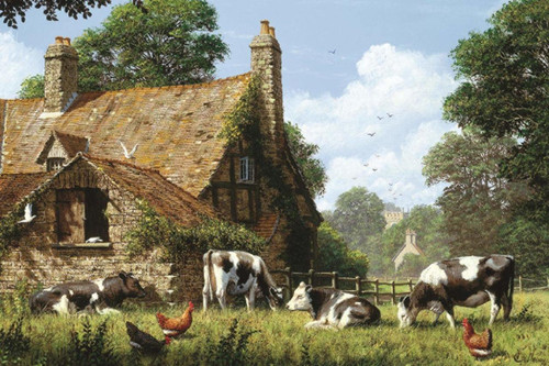 Cows at a Farm - 1500pc Jigsaw Puzzle By Jumbo