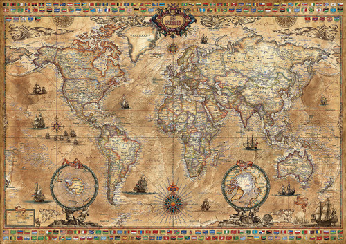 Educa Jigsaw Puzzles - Antique World Map