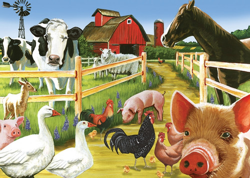 Farmyard Welcome - 35pc Tray Puzzle by Cobble Hill