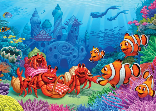 Clownfish Gathering - 35pc Tray Puzzle by Cobble Hill