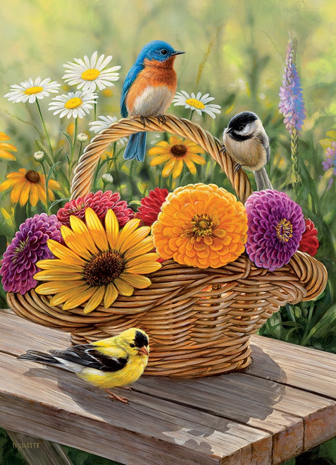 Bluebird and Bouquet - 35pc Tray Puzzle by Cobble Hill
