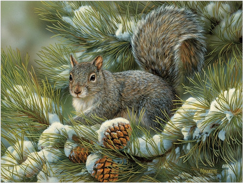 Gray Squirrel - 275pc Easy Handling Puzzle by Cobble Hill