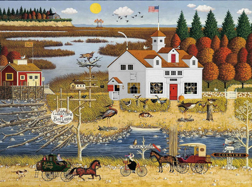 Charles Wysocki: Carver Coggins - 1000pc Jigsaw Puzzle by Buffalo Games
