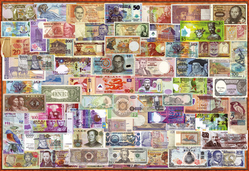 World Banknotes - 1000pc Jigsaw Puzzle by Educa