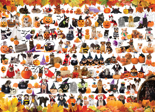 Halloween Pets - 1000pc Jigsaw Puzzle by Eurographics