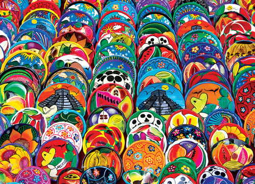 Mexican Ceramic Plates - 1000pc Jigsaw Puzzle by Eurographics