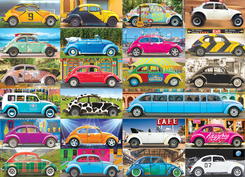VW Beetle Gone Places - 1000pc Jigsaw Puzzle by Eurographics