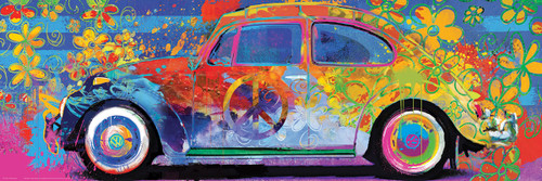 VW Beetle Splash - 1000pc Panoramic by Eurographics