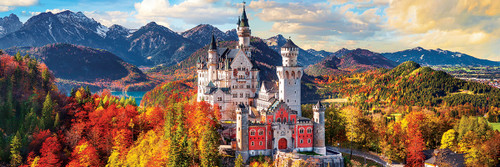 Neuschwanstein Castle in Fall - 1000pc Panoramic by Eurographics