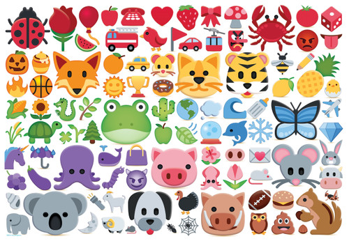 Emojipuzzle: EMOJIColors - 100pc Jigsaw Puzzle by Eurographics