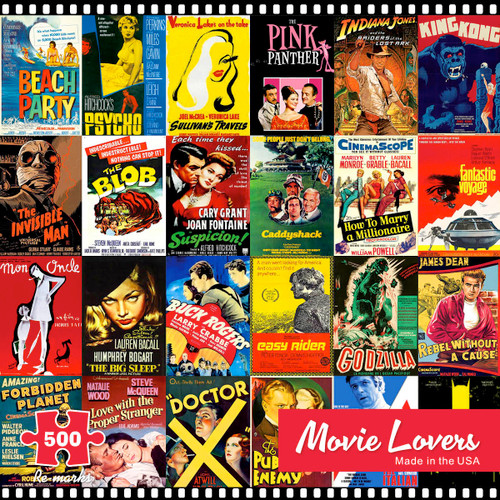 Movie Lovers - 500pc Jigsaw Puzzle By Re-marks
