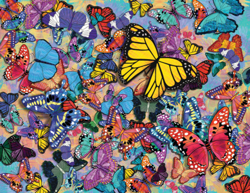 Butterfly Frenzy - 500pc Jigsaw Puzzle By Springbok