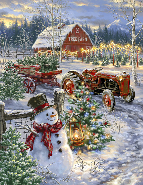 Christmas Tree Farm - 500pc Jigsaw Puzzle By Springbok
