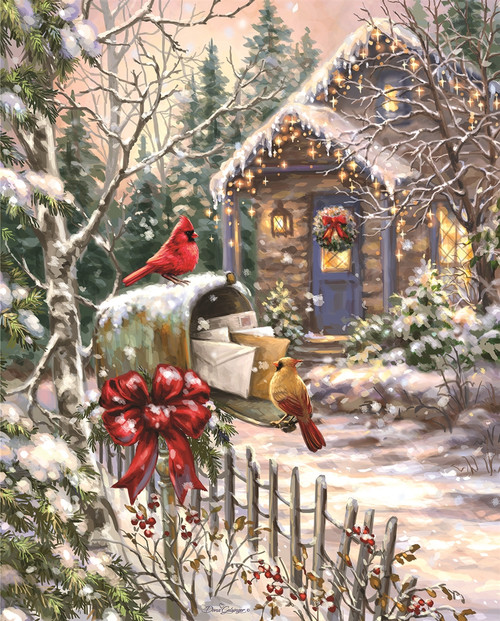 Cardinal Cottage - 1000pc Jigsaw Puzzle By Springbok