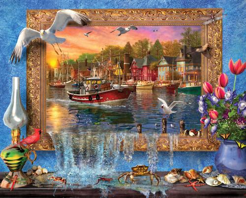 Seaside Harbor - 1000pc Jigsaw Puzzle By Springbok