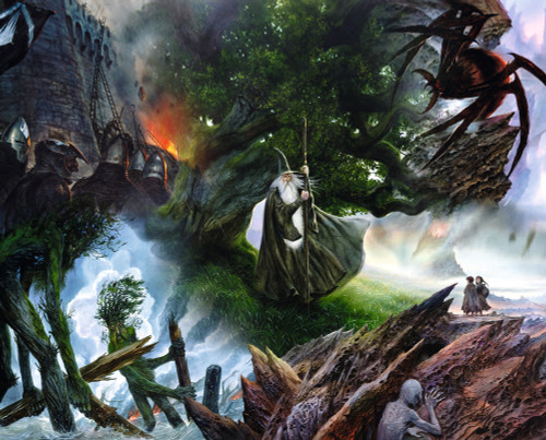 Lord of the Rings: Collage - 1000pc Jigsaw Puzzle By Springbok