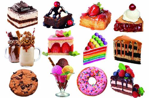 Desserts  - 500pc Shaped Jigsaw Puzzle by Lafayette Puzzle Factory