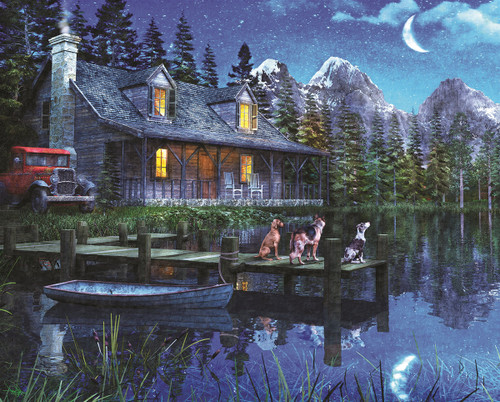 Moonlit Night - 1000pc Jigsaw Puzzle By Springbok