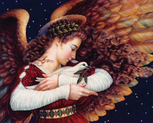 Angel and Dove - 1000pc Jigsaw Puzzle By Springbok
