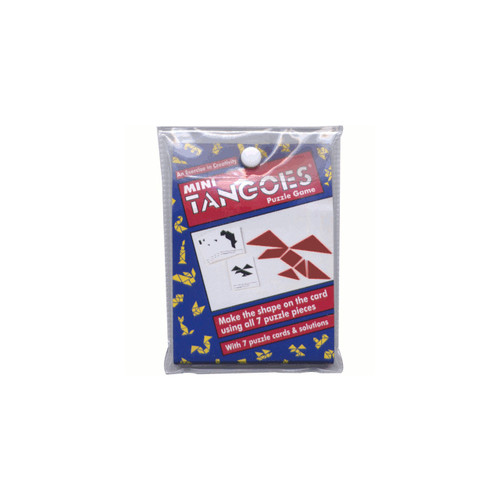 Mini Travel Tangoes: Red Tangram Puzzle Game