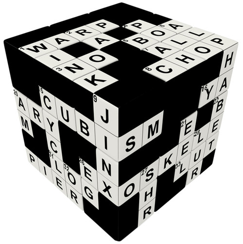 3 x 3 Crossword Puzzle Cube by V-CUBE