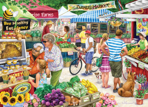 Farmer's Market - 1000pc Jigsaw Puzzle by Vermont Christmas Company