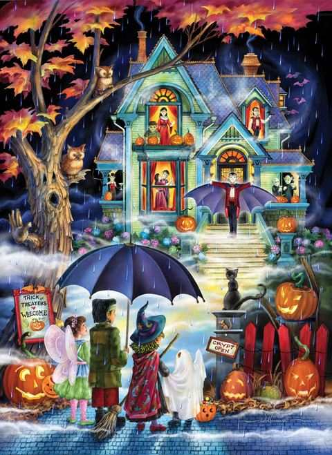 Fright Night - 1000pc Jigsaw Puzzle by Vermont Christmas Company