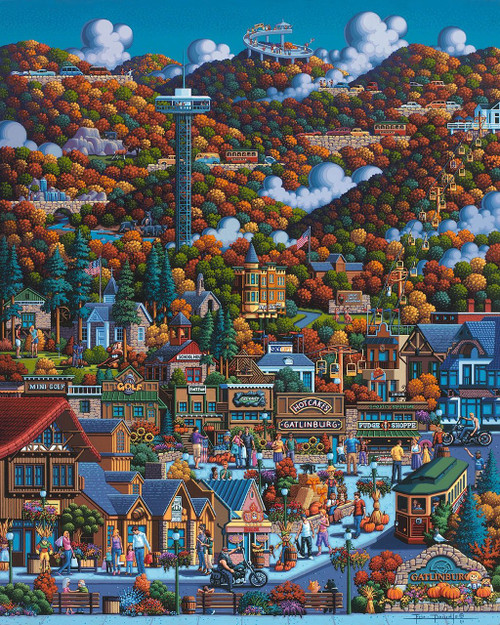 Smoky Mountains - 500pc Jigsaw Puzzle by Dowdle