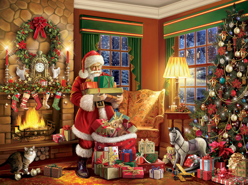 Delivering Gifts - 550pc Jigsaw Puzzle By White Mountain