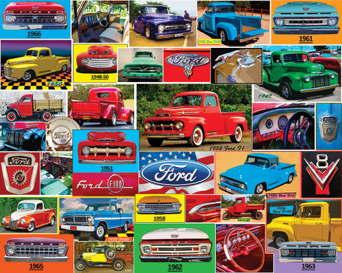 Classic Ford Pickups - 1000pc Jigsaw Puzzle By White Mountain