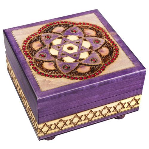 Star of David & Flower - Secret Box