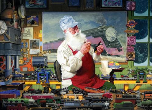 Santa's Hobby - 1000pc Jigsaw Puzzle by Cobble Hill
