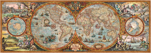 Hemisphere Map - 6000pc Panoramic Jigsaw Puzzle By Heye
