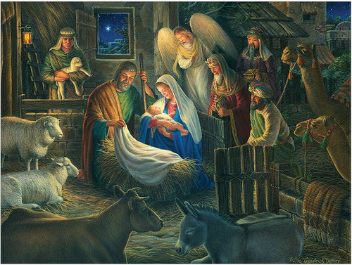 Away in a Manger - 500pc Jigsaw Puzzle By Cobble Hill