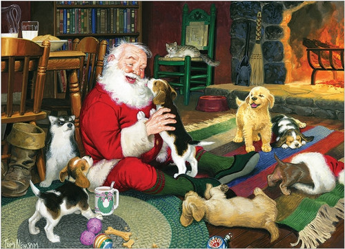 Santa's Playmate - 1000pc Jigsaw Puzzle by Cobble Hill