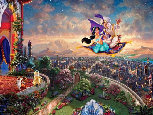 Thomas Kinkade Disney Princess: Aladdin - 300pc Oversized Jigsaw Puzzle by Ceaco