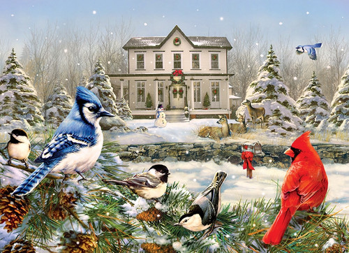 Country House Birds - 1000pc Jigsaw Puzzle By Cobble Hill
