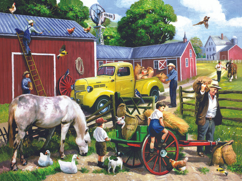 Summer Farm Days - 1000pc Jigsaw Puzzle By Sunsout