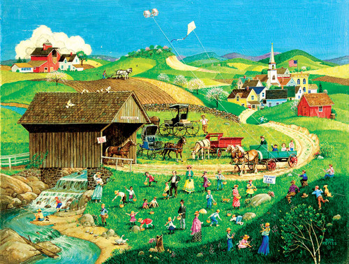 Easter Egg Hunt - 500pc Jigsaw Puzzle By Sunsout